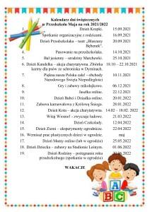 kalendarz dni świątecznych